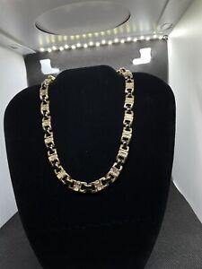 Swarovski Black Gold Crystal Elements Necklace