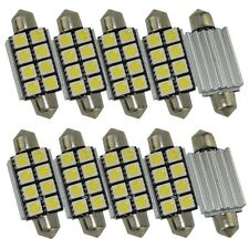 10X 42mm CANBUS Festoon 8 SMD 5050 LED Dome Lights Bulb Lamp No Error Pure White