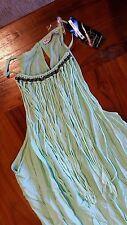 Hot Options Bauhaus Belle Fringing Maxi Dress Green Sz14 Post E9