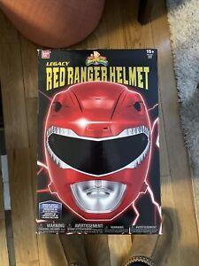 Mighty Morphin Power Rangers Legacy Red Ranger Helmet Full Scale Cosplay 1:1 New