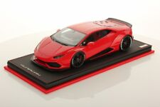 MR Collection Lamborghini Huracan Aftermarket Rosso Mars with Showcase 1/18