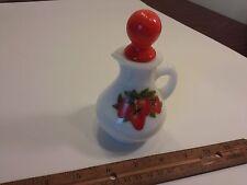 Vintage Avon Strawberry & Cream Bath Foam Pitcher Bottle strawberries white milk
