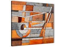 Arancione Bruciato grigio dipinto da cucina Accessori in Tela-ASTRATTO 1s405s - 49 cm