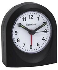 Westclox Analog Travel Alarm Clock #47312 New Battery Powered