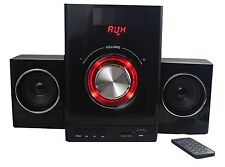 Multimedia Design 2+1 Sound System Kompaktanlage Stereoanlage HiFi Musikanlage