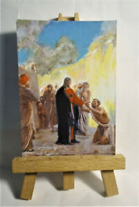 Christ Healing ACEO Original PAINTING by Ray Dicken a Carl Heinrich