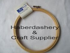 BIRCH EMBROIDERY HOOP ROUND WOODEN EDGE WITH SCREW CLOSURE 15cm