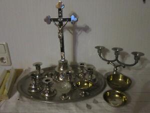 Hausaltar, Versehgarnitur, Kruzifix, 19 Teile