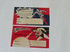 Superman Tim Club For Boys Membership Card Rare Memorabilia REPRO