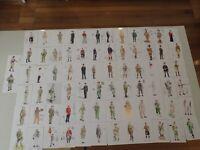 75 x Australian Army uniform postcards