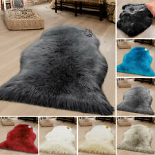 Extra Thick Soft Pile Shaggy Faux Fur Mat Small Soft Bedroom Real Sheepskin Rug
