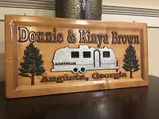 Air Stream Wood Carved Camper Sign, Air Stream sign, Camp Sign
