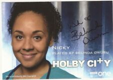 Belinda Owusu as Nicky in BBC  Holby City 2018 Hand Signed Photo Cast Card