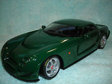 1/18 SCALE DIECAST 2003 TVR SPEED 12 IN HUNTER GREEN BY 100% HOT WHEELS.