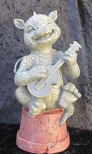 "Gartenfigur, kleiner Gartendrache & Gitarre  #GD-101 little gardendragon ""Alvyn"""