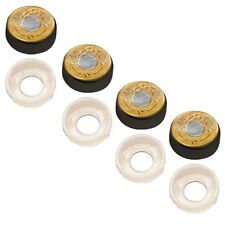 4 Black Custom License Plate Frame Screw Snap Caps Covers 45 AUTO Bullet B