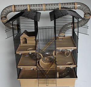 SUPER Hamsterburg Hamsterkäfig mit gigantischem Zubehörpaket Mäusekäfig Stall V