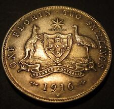 1916 M Australia 2/- Two Shillings One Florin #PW16m-F =HIGH GRADE=