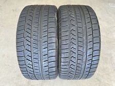 2 Used 255/35R19 Cooper Zeon RS3-A M+S - 7.5/32 Tire Pair W/ Low Miles