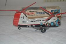 Tin TOY Nomura Win up patrol helicopter police anni 60 lunga 25cm