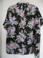 Sag Harbor Multi Color Floral Shirt Blouse Top  Sz 1X