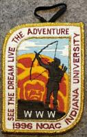 1996 NOAC Delegate Patch - See The Dream Live The Adventure - BSA/OA
