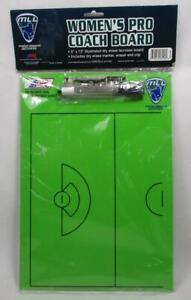"""A & R Women's Pro Coach Dry Erase Double Sided Lacrosse Board 9"""" x 13"""" MLL A-2"""