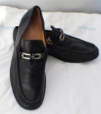 SALVADORE FERRAGAMO Italy Genuine Black Leather Loafers Shoes Men's 11M