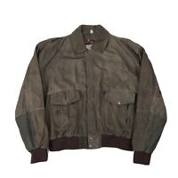 VTG Superfortress B52 B-2 Bomber Brown Leather Jacket Mens 2XL Rare Aztec Lining