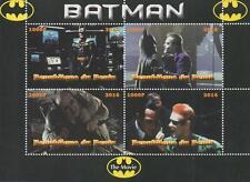 "BATMAN THE MOVIE KEATON NICHOLSON 6"" x 4"" REPUBLIQUE DU BENIN 2014 STAMP SHEET"