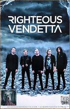 RIGHTEOUS VENDETTA Cursed 2017 Ltd Ed RARE New Poster +FREE Metal Rock Poster!