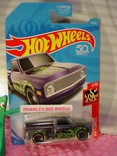 CUSTOM '69 CHEVY PICKUP truck #11 fifty✰purple;mc5✰green FLAMES✰2018 Hot Wheels