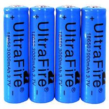 4PCS 3200mAh 3.7V 18650 Rechargeable Li-ion Battery for Headlamp Flashlight NEW