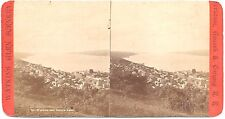 Gates Stereoview of the City of Watkins & Seneca Lake in the Background 1880s