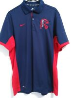 Men's Size Large Nike Dri-Fit Eagles Football Logo Blue Red Active Polo Shirt