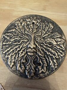 Green Man Quality Latex Rubber Mould Wall Plaque Witches Fairy Garden