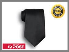 Black Color Men's British Style Skinny Tie Slim Narrow Necktie Plain Neckwear