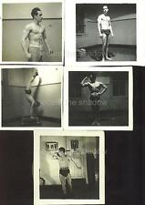 VINTAGE PHOTO LOT: BODYBUILDERS POSING & FLEXING BROOKLYN 1940 Gay Interest