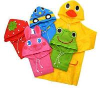 FAD Cartoon Baby Kids Toddler Boy Girl Hooded Rain Coat Raincoat Jacket UK
