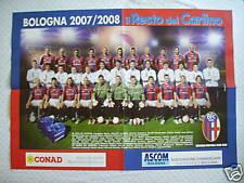 (AB115) POSTER BOLOGNA 2007-2008 68x48 cm Resto del Carlino SQUADRA TEAM