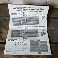 Vintage Aurora Lap Counter Instructions 1964 Model Motoring Starter Track Sheet