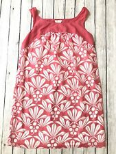 Sophie Max Womens Pink White Floral Print Dress Semi Sheer Overlay Lined Size L