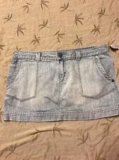 Roxy Juniors Light washed denim jeans mini skirt size 11 Spring summer beach