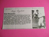 Rudy Regalado Cleveland Indians Signed AUTOGRAPH AUTO Photograph
