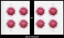 2020 US STAMP- Global:Chrysanthemum - One Plate Block -SC# 5460