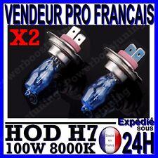 KIT DE 2 AMPOULE HOD H7 100W LAMPE HALOGENE PHARE XENON GAZ SUPER WHITE 8000K 12