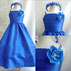 New SP7 Royal blue children pageant flower girl dress size18m 2 4 6 8 10 12 14