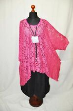 Lagenlook °° arco-Big-globo-túnica - shirt ° más noble 3d punta ° Pink ° 100 cm ancho