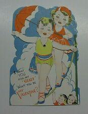Vintage Valentine Boy /Girl Circus -Unused