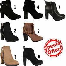 Unbranded 100% Leather Block Heel Boots for Women